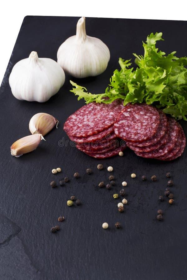 Сосиска и овощи стоковые фото