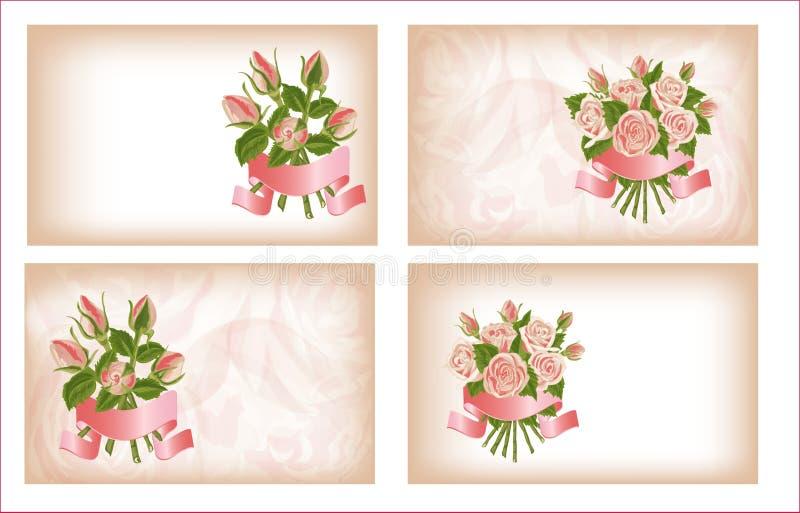 Download 4 состава роз. иллюстрация штока. иллюстрации насчитывающей поздравления - 37925722
