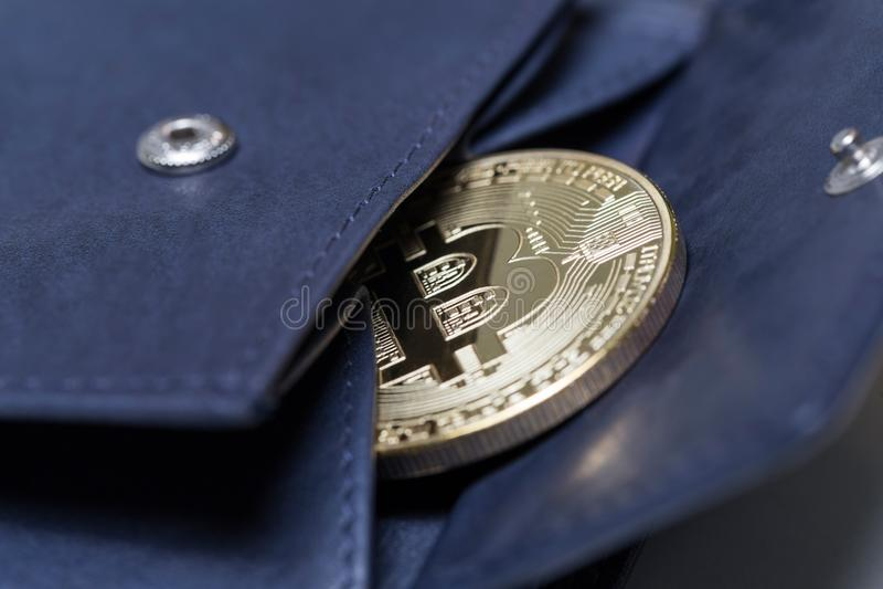 Составлять бумажника Bitcoin стоковая фотография