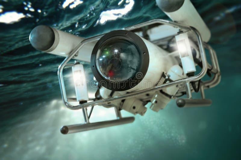 Составлять робота глубокого моря ныряя стоковые фото