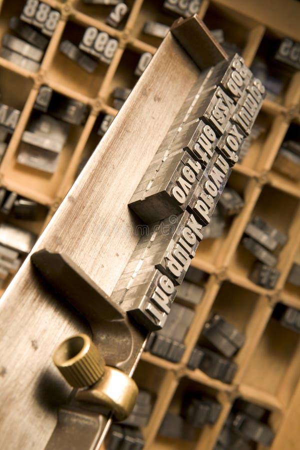 составляя typesetter ручки s стоковая фотография rf