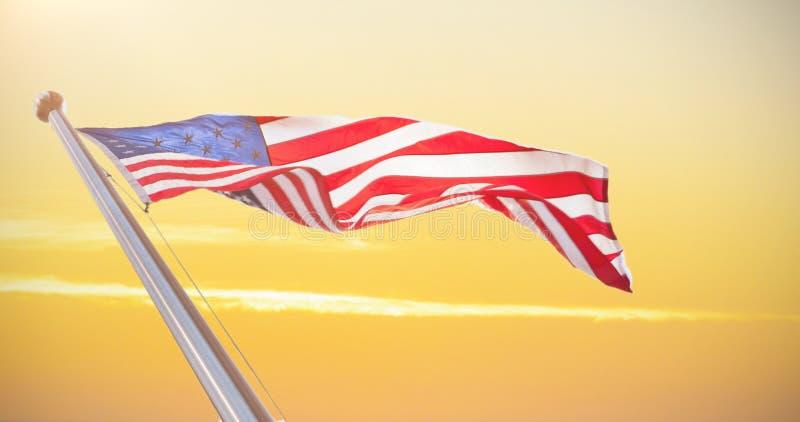 Составное изображение американского флага стоковые изображения