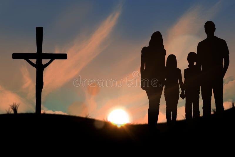 Составное изображение жизнерадостной семьи держа руки стоковые фото