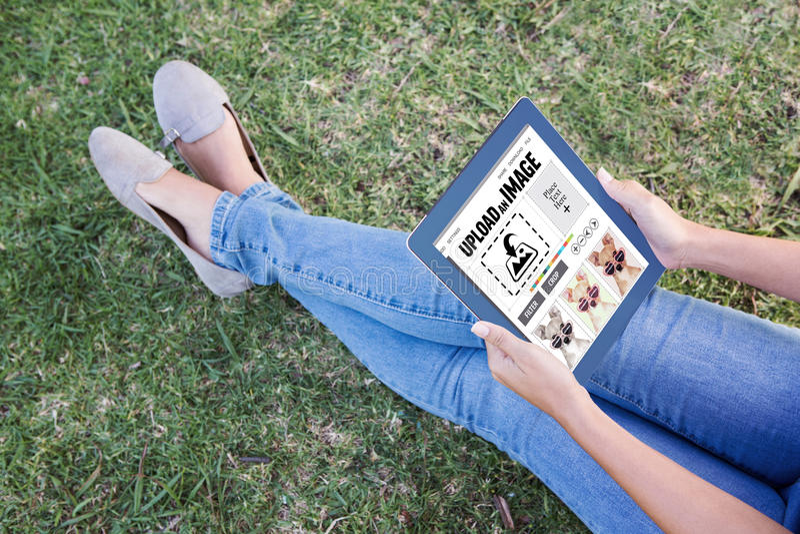 Составное изображение дизайнерского интерфейса стоковая фотография
