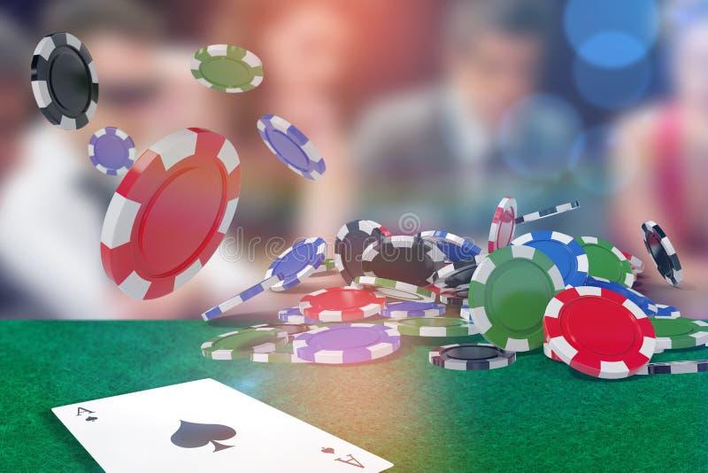 Составное изображение изображения играя в азартные игры обломоков 3d бесплатная иллюстрация