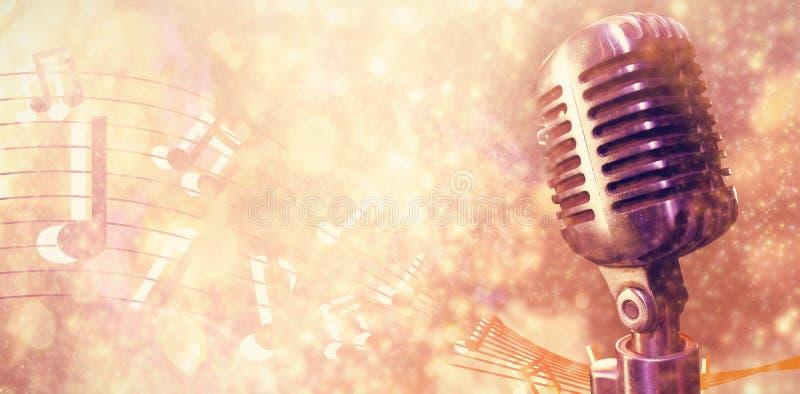 Составное изображение конца-вверх микрофона стоковое изображение rf