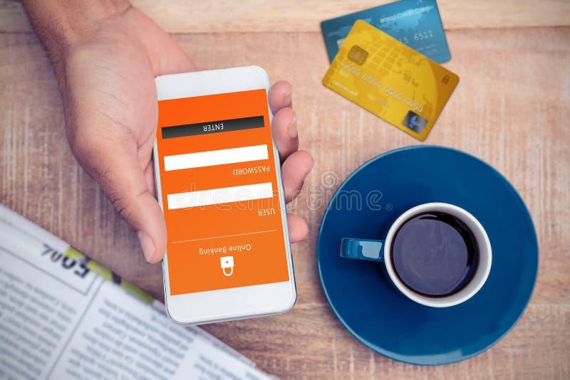 Составное изображение кредитной карточки стоковое изображение