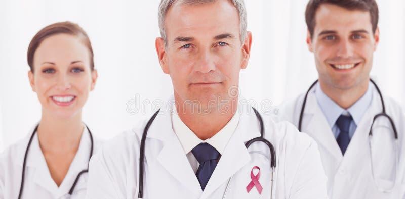 Составное изображение ленты осведомленности рака предстательной железы стоковые изображения
