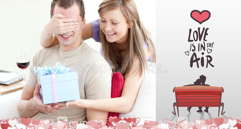 Составное изображение милых пар валентинок бесплатная иллюстрация