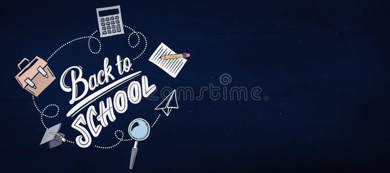 Составное изображение назад к школе иллюстрация вектора