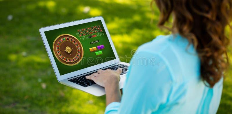 Составное изображение онлайн игры рулетки стоковые изображения rf