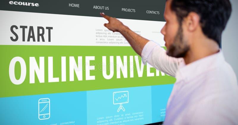 Составное изображение онлайн интерфейса курсов стоковая фотография