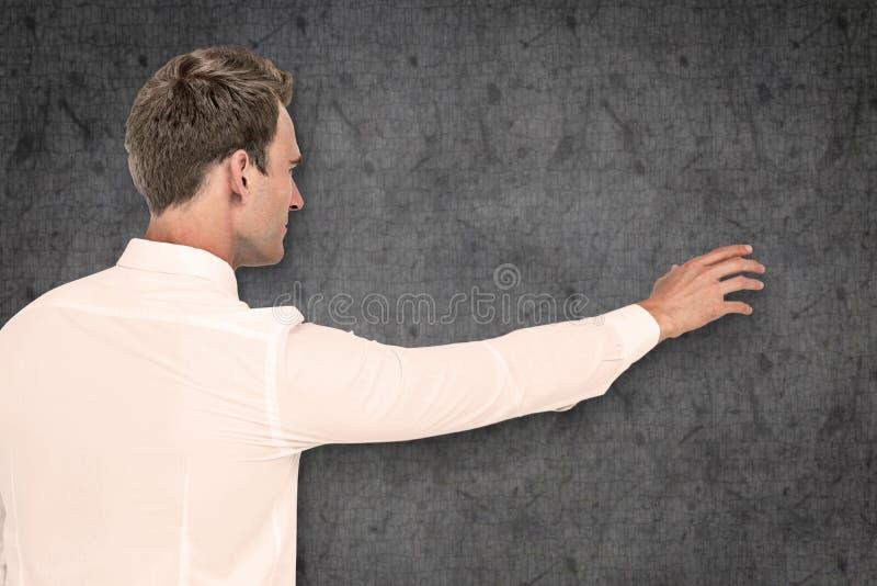 Составное изображение достижения бизнесмена стоковые изображения rf