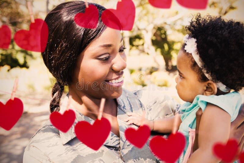 Составное изображение сердец на линии стоковые фото