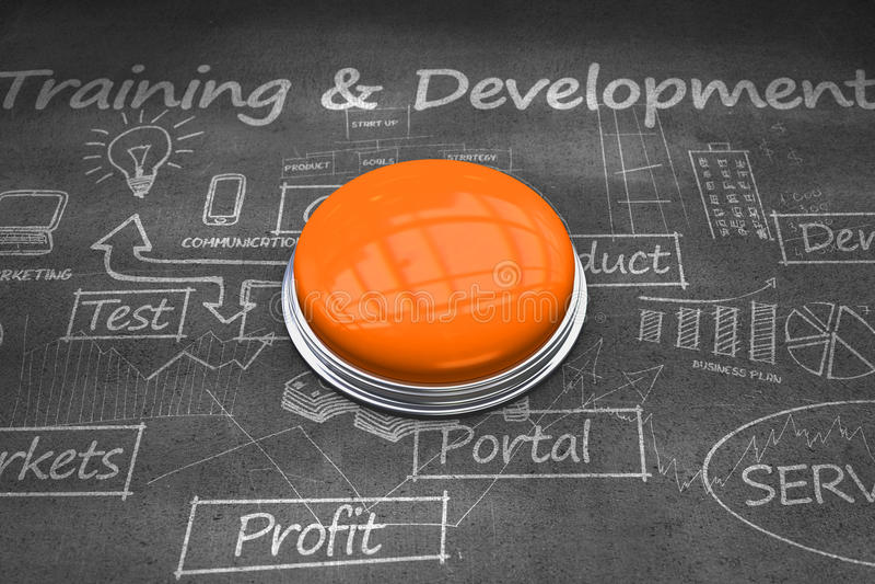Составное изображение сияющей оранжевой кнопки бесплатная иллюстрация