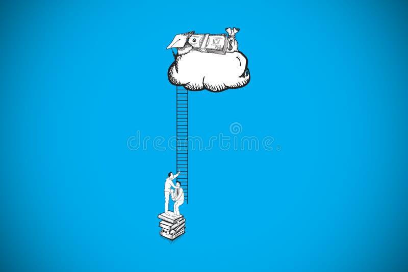 Составное изображение сыгранности водя для того чтобы принести пользу doodle бесплатная иллюстрация