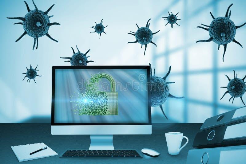 Составное изображение цифрового изображения серого замка 3d иллюстрация вектора