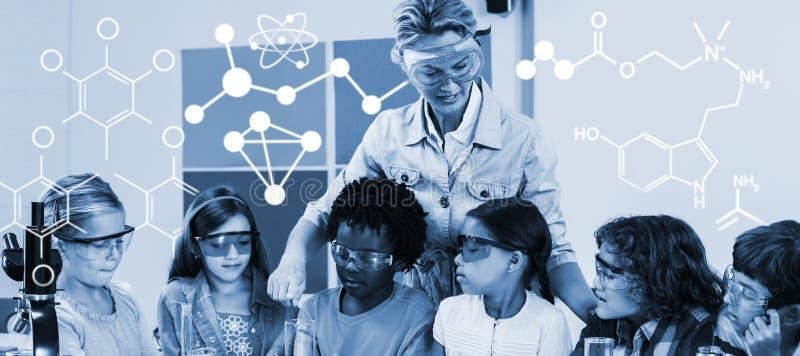 Составное изображение цифров произведенного изображения химического строения бесплатная иллюстрация