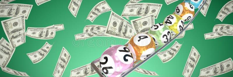 Составное изображение шариков лотереи иллюстрация вектора