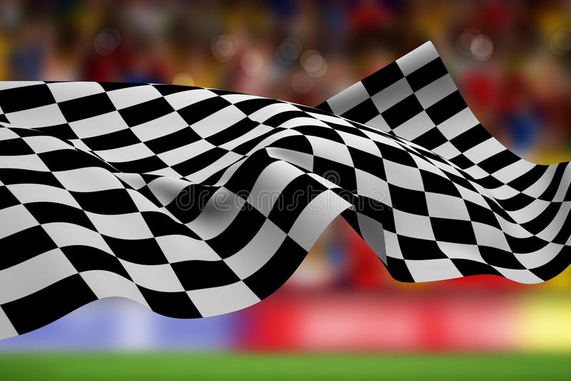 Составное изображение checkered флага бесплатная иллюстрация