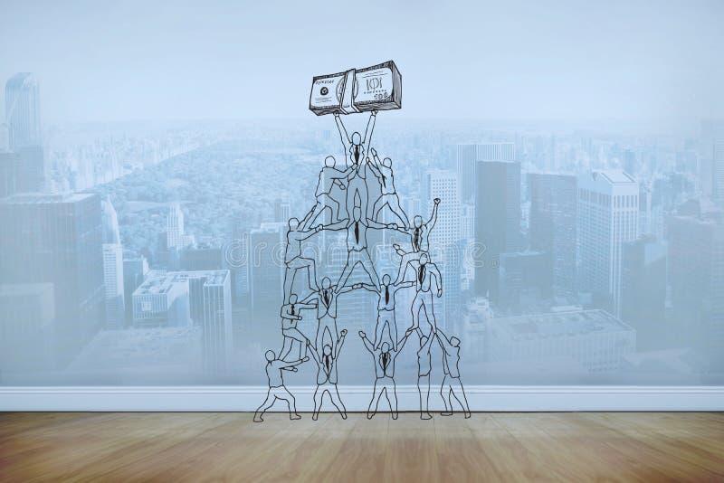 Составное изображение doodle сыгранности и выгоды стоковые изображения