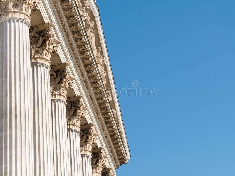 Составной заказ греческих столбцов стиля стоковое фото