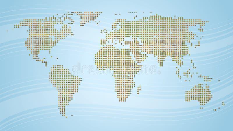 составьте карту мир иллюстрация вектора