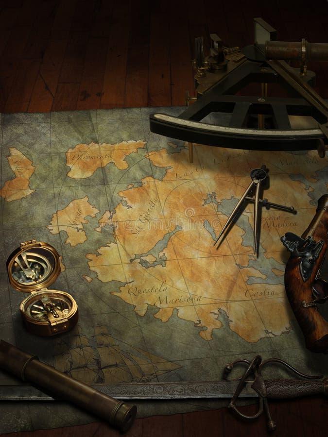 составьте карту сокровище стоковые изображения rf
