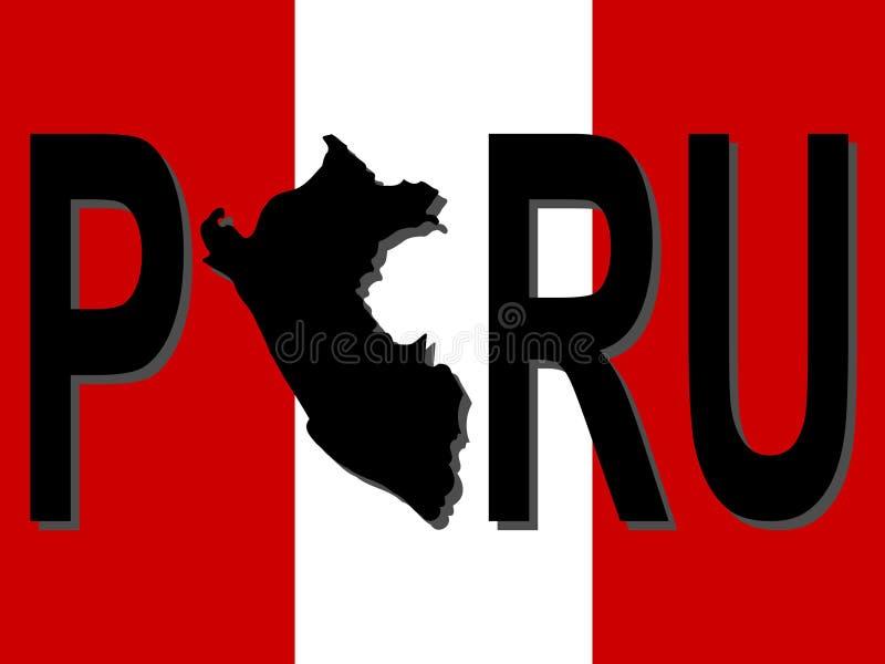 составьте карту текст Перу бесплатная иллюстрация