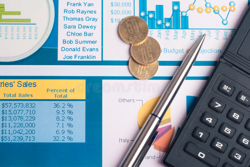 составьте схему финансам стоковое изображение rf