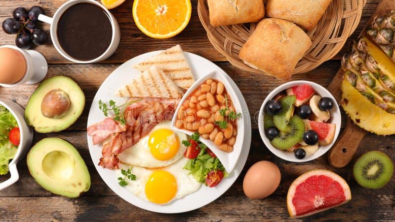 Состав английского завтрака стоковое фото rf