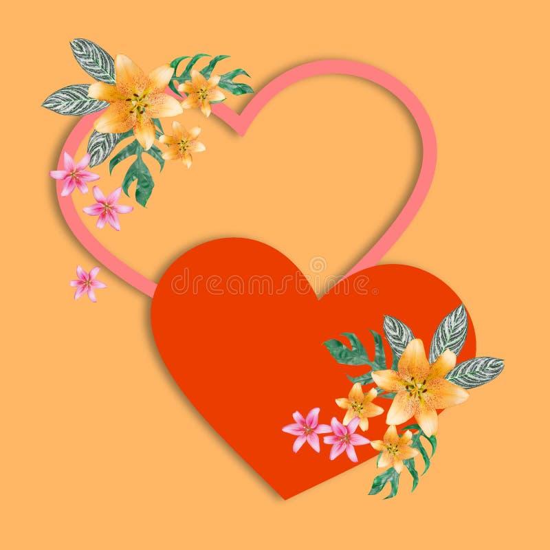 Состав букета цветка на карточке цвета венчание стоковая фотография