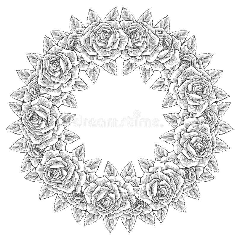 Состав винтажного вектора флористический иллюстрация штока