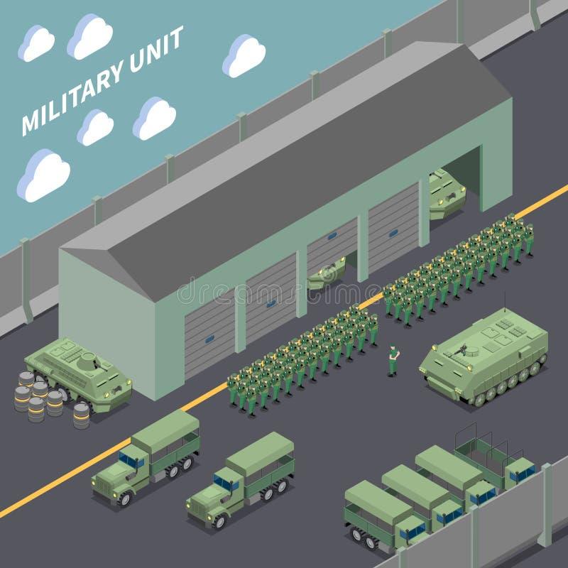 Состав военной части равновеликий иллюстрация вектора