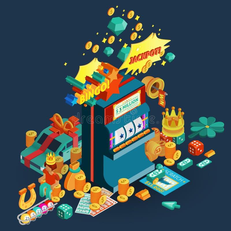 Состав джэкпота лотереи равновеликий иллюстрация штока