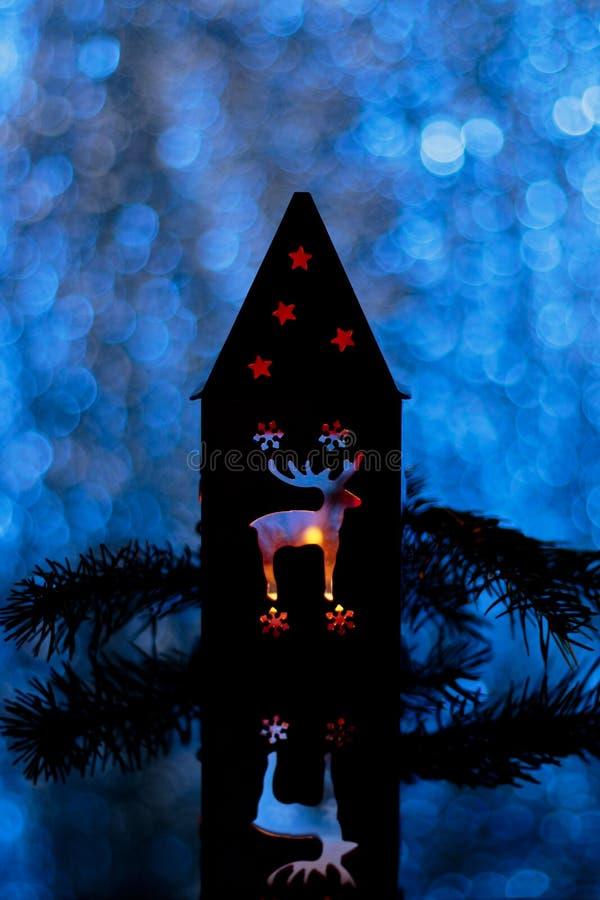 Download Состав или открытка рождества к Новому Году, лампе с A.C. Стоковое Изображение - изображение насчитывающей состав, concept: 81800281