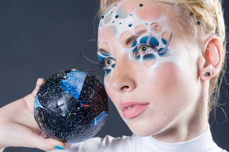 Состав и конкуренция художников волос стоковое изображение
