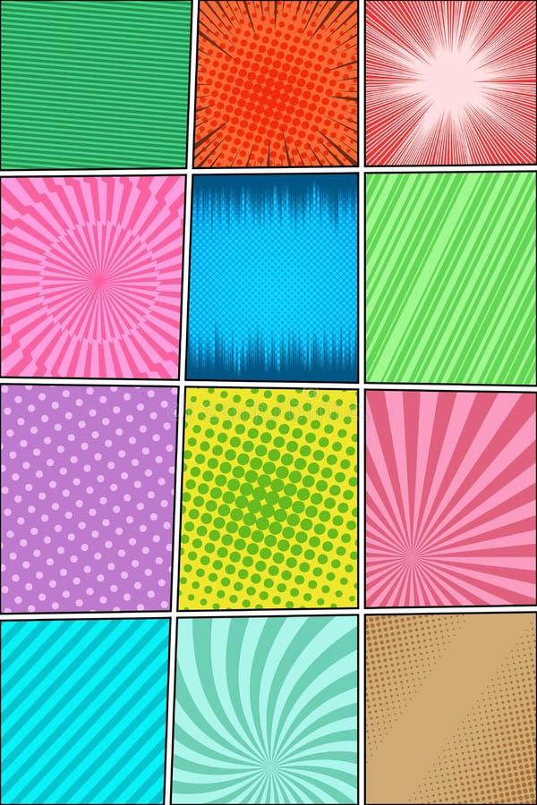 Состав комика вертикальный иллюстрация вектора