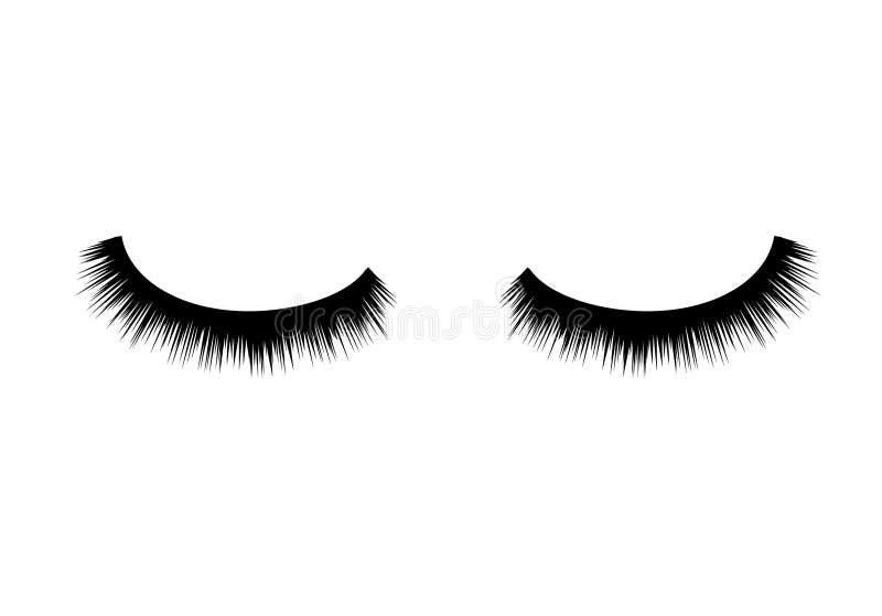 Состав красоты вектора ресниц Длинная мода глаза Женское очарование ресниц иллюстрация штока