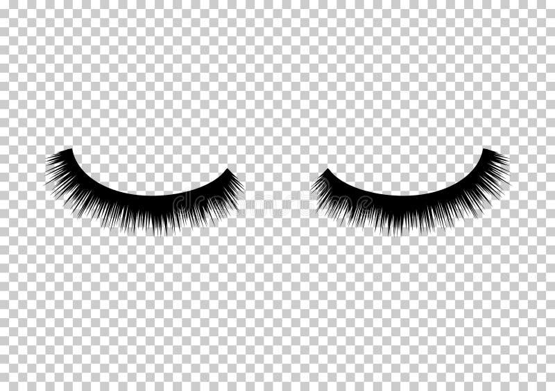 Состав красоты вектора ресниц Длинная мода глаза Женское очарование ресниц иллюстрация вектора