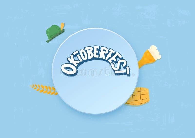 Состав литерности Oktoberfest также вектор иллюстрации притяжки corel бесплатная иллюстрация