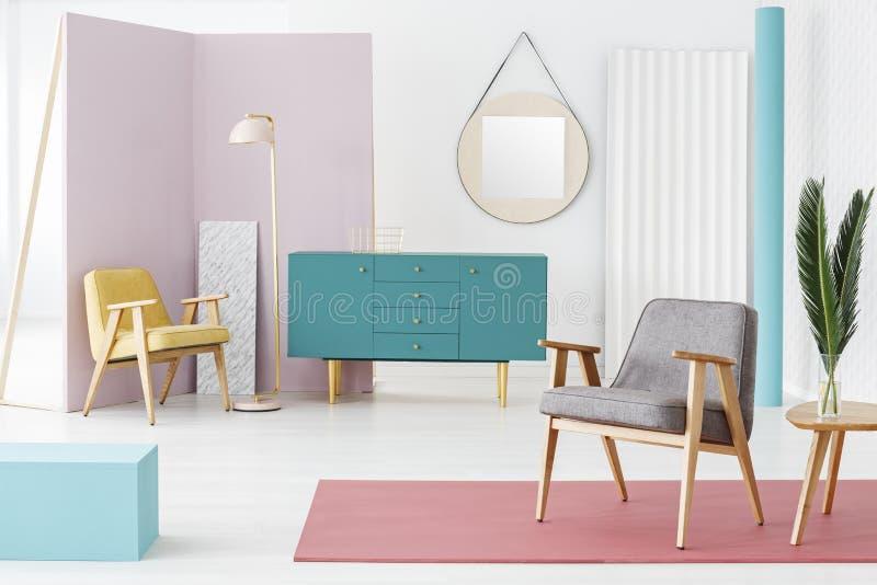 Состав мебели и цветовая схема стоковое фото