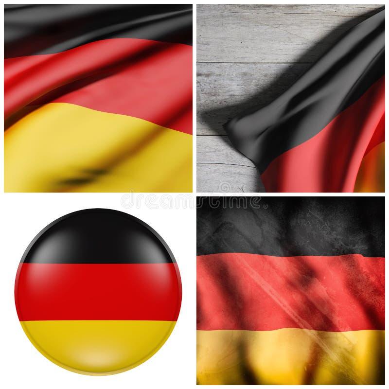 Состав немецких флагов бесплатная иллюстрация