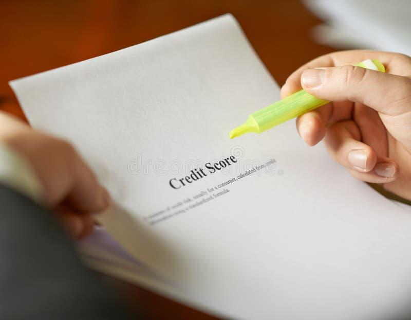 Состав определения кредитного рейтинга стоковая фотография rf