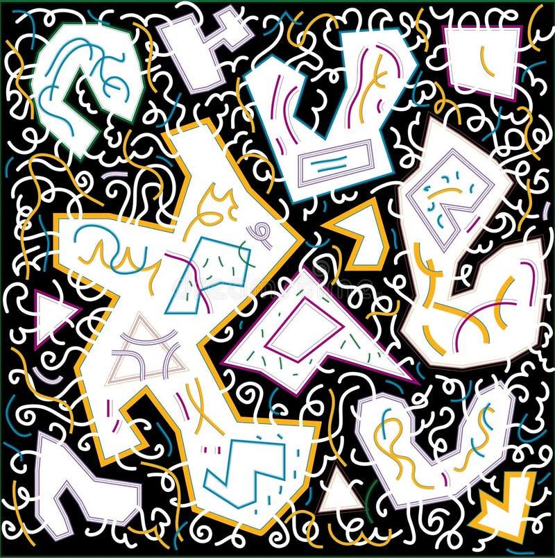 Состав орнамента картины стоковые фотографии rf