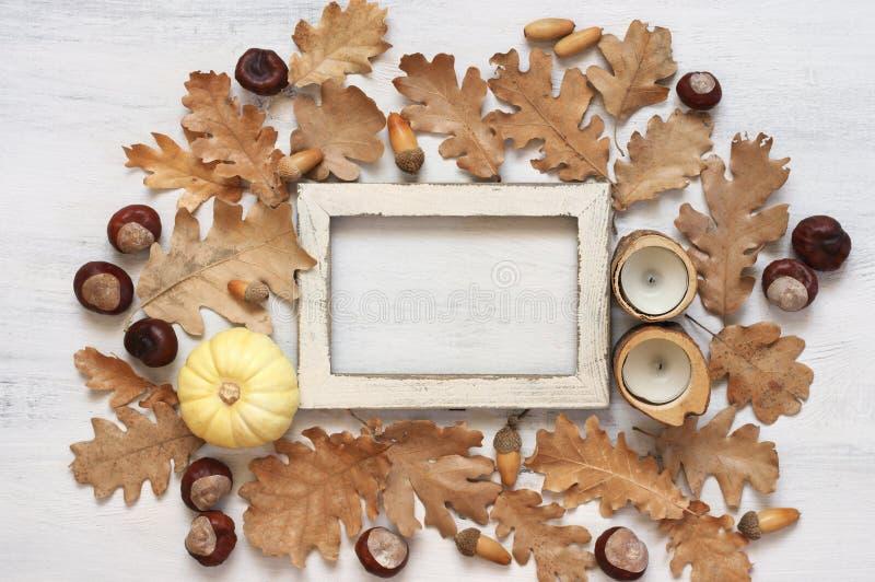 Состав осени как рамка стоковое фото