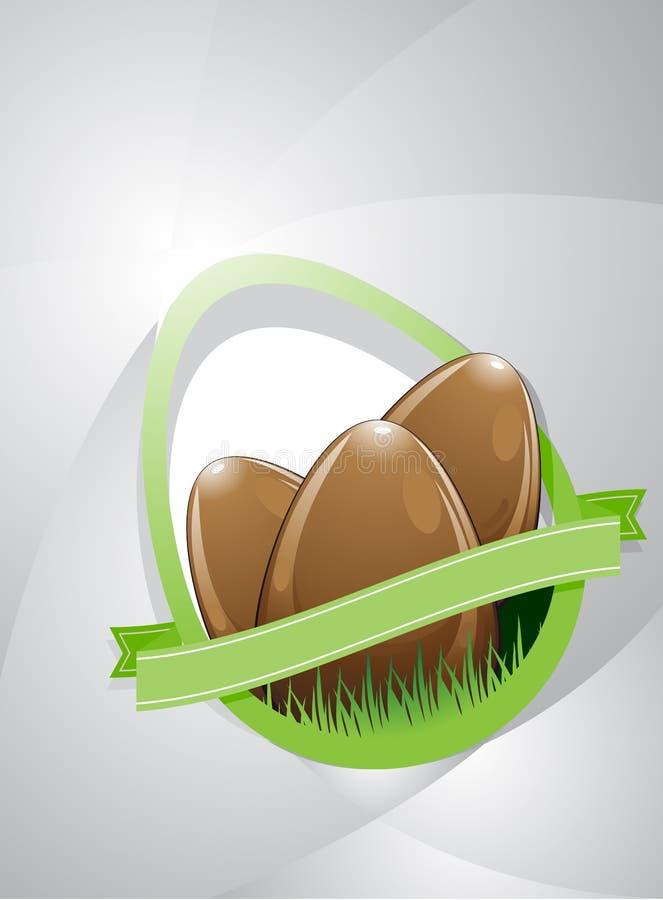 3 пасхального яйца иллюстрация штока