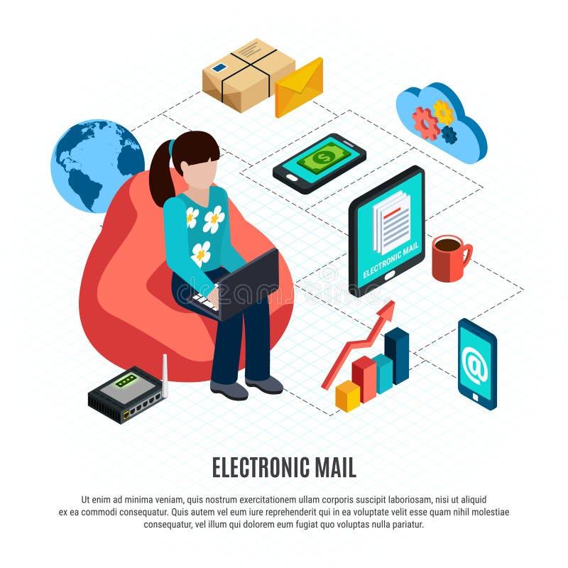 Состав почты равновеликий покрашенный бесплатная иллюстрация