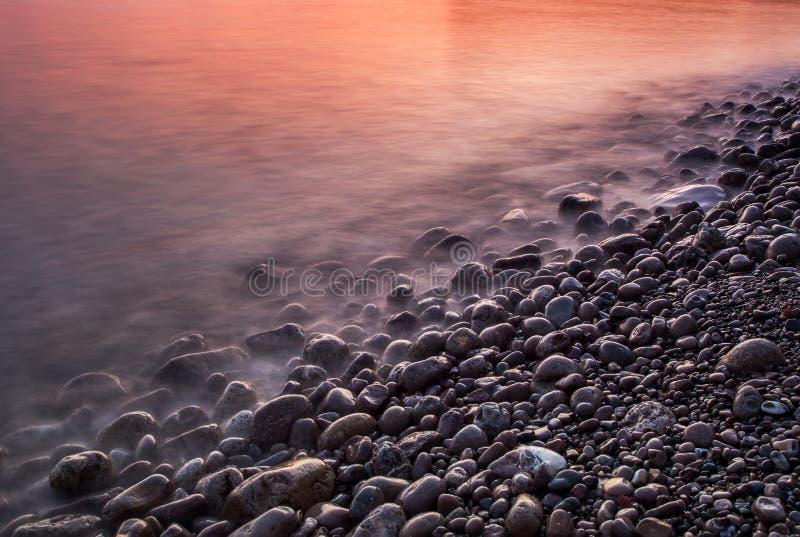Состав природы захода солнца стоковые изображения