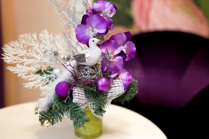 Состав снега цветка стоковые изображения rf